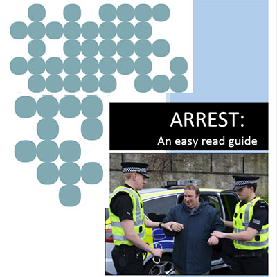 Arrest - Easy Read Guide front cover